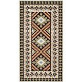 Safavieh Veranda Collection VER099-0725 Indoor/ Outdoor Chocolate and Terracotta Southwestern Area Rug (2'7″ x 5′)  VER092-0625-3 Rug Size: 2'7″ x 5′ Features: -Technique: Crafted / Power loomed.-Material: Polypropylene.-Origin: India.-Latex: No.-Professional...
