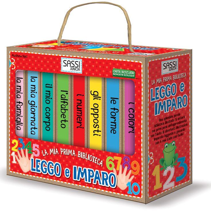 #Sassi Junior: La Mia Prima Biblioteca. Leggo e Imparo - 8 libretti di 10 pagine ciascuno. #ecologia #libro #gioco