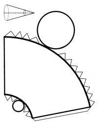 Paso 1 de 5 - <p>Copia esta plantilla del <strong>cono truncado</strong> en un papel, cartulina o cartón.</p>