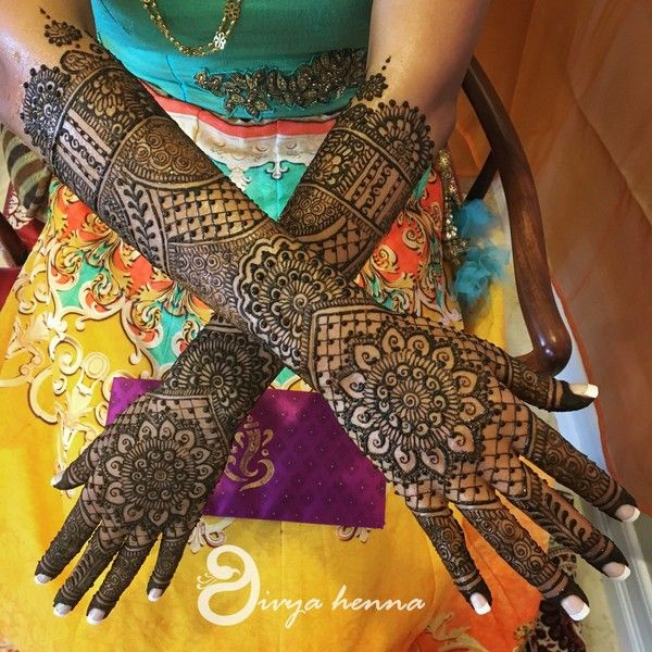 Intricate Mehndi Designs On Hands