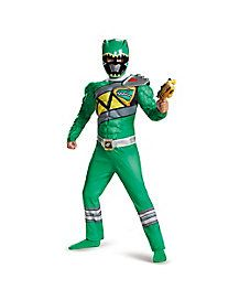 Kids Green Ranger Costume - Power Rangers Dino Charge