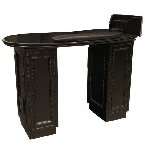 Lenox manicure table black black galaxy salon ideas for Black nail desk