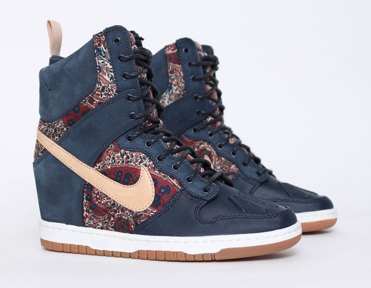 #Nike Dunk Sky Hi #Sneakerboot Liberty #Wedge #Sneakers
