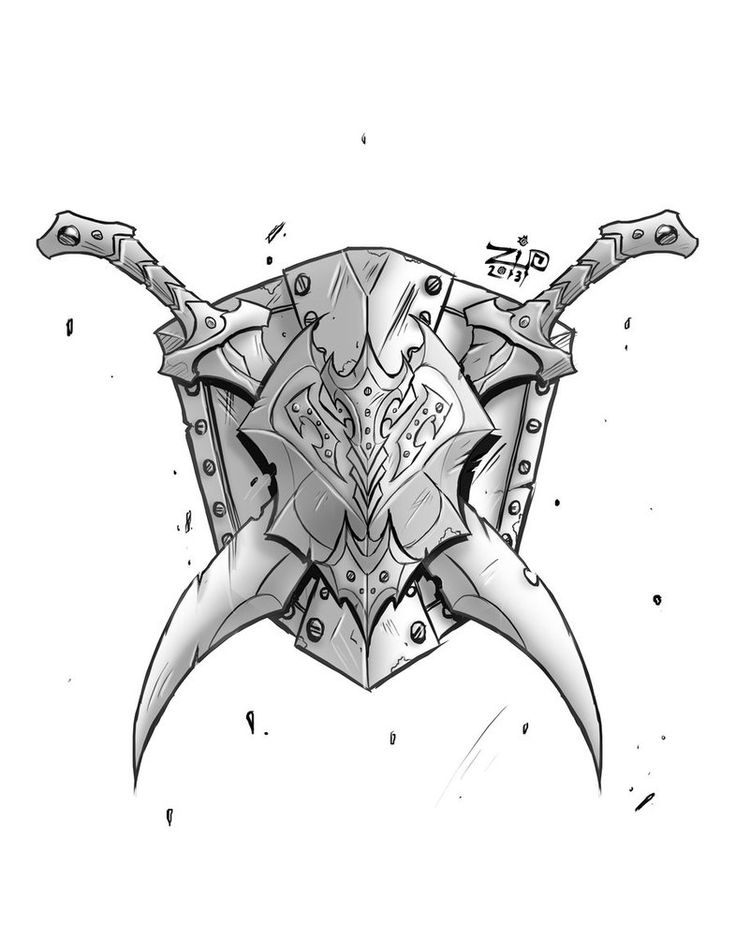 Steves Shield and Swords Tattoo by ZipDraw on DeviantArt