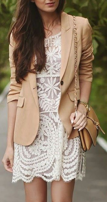 Lace Dress + Blazer //