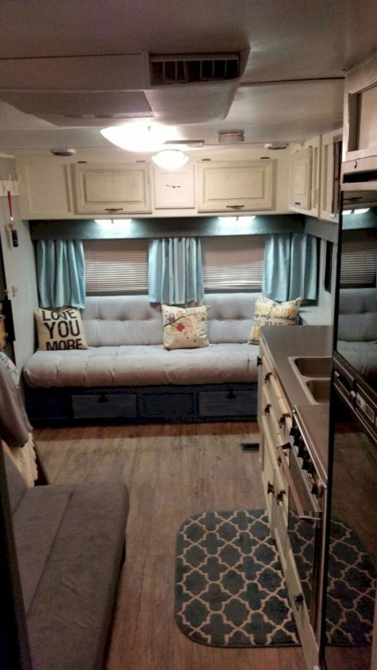 Best Road Trip Camper Loves Images On Pinterest Camper - Old shabby trailer gets one hell makeover