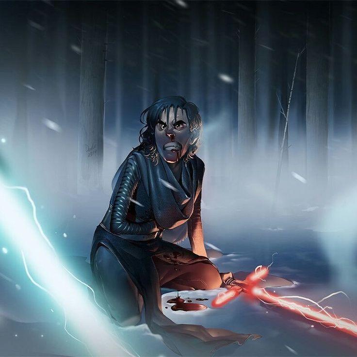 Kylo Ren By Dashiana  #StarWars #Disney #ConceptArt #Art #FanArt #Movies #Film #Comics #ComicArt #GameArt #Illustration
