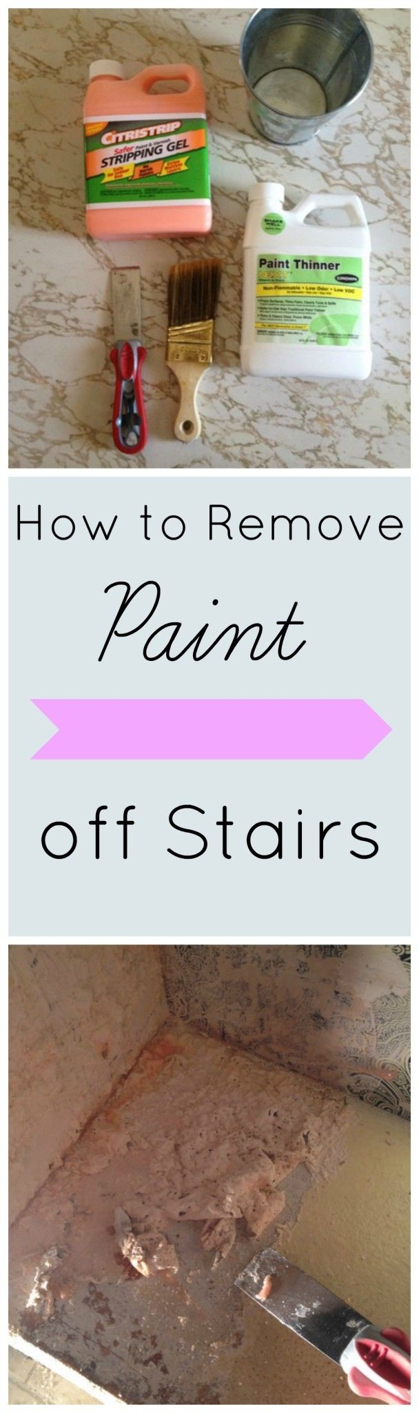 Last week we talked about my plans to put in a stair runner here. That link goes over the steps to measure and plan for a stair runner, so start there first if you are doing this project. Today we are talking about how to removing paint off stairs. As a reminder this is how …