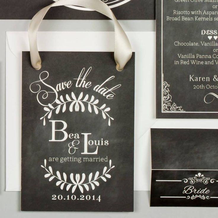 I've just found Vintage Chalkboard Wedding Save The Date. This Vintage Chalkboard save the date is perfect for a wedding with a vintage or rustic theme.. £2.00