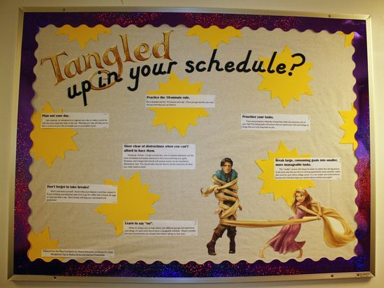 resident assistant bulletin boards | Resident assistant ideas / Tangled-themed bulletin board
