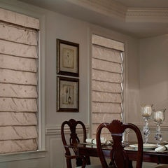 traditional roman blinds by Lutron Electronics......for the bedroom