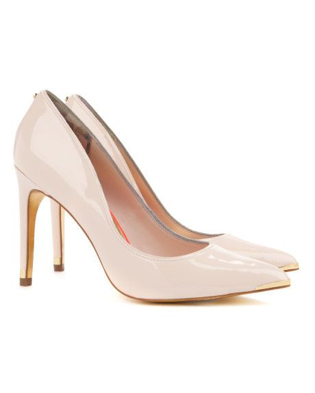 Leather court shoe - Nude Pink | Footwear | Ted Baker UK