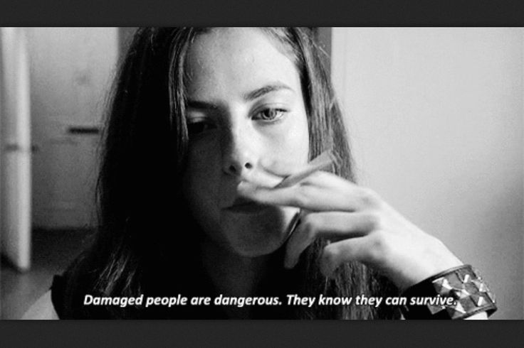 'Damaged people are dangerous. They know they can survive.'  quote by Josephine Hart   #skins uk #effy