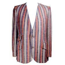 art deco mens striped jacket