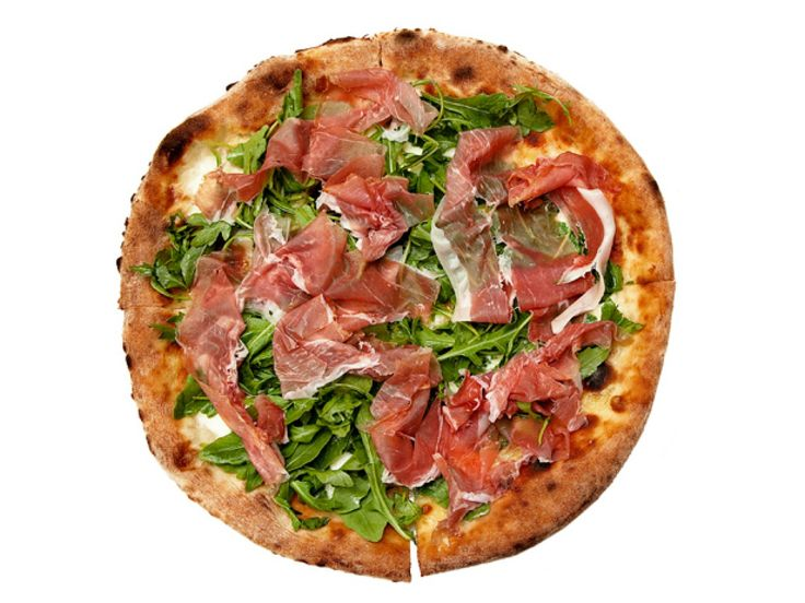 Parma From Osteria: Philadelphia, Pennsylvania : Osteria co-owners Marc Vetri (a James Beard Award winner) and Jeff Michaud ate pizza all over Italy before they added one to the menu here. What did the two veterans of Italian fine dining learn? The simpler, the better. Their Parma pizza is nothing more than razor-thin prosciutto (cut on a hand-cranked slicer), mozzarella, fontina and sherry vinegar-dressed arugula, which is often pulled from a garden they planted nearby. $20; 640 North…