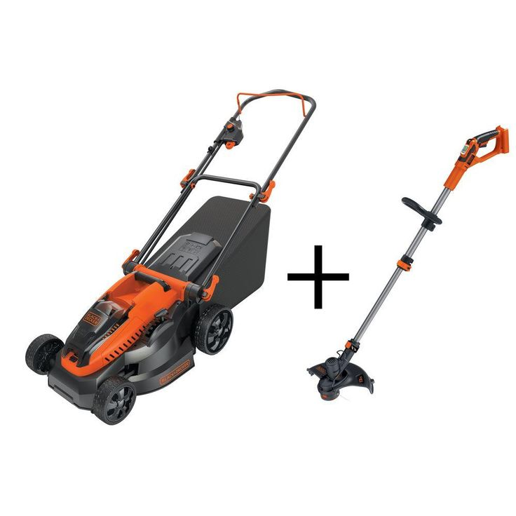 16 in. 40-Volt Walk-Behind Cordless Electric Mower with Free String Trimmer