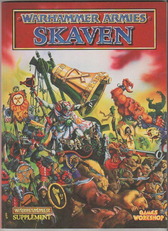 1993 Warhammer Army Codex Skaven.  NM.  Games by RubbersuitStudios, $10.95 #warhammer #roleplayinggames