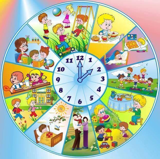 Режим дня детский сад картинка