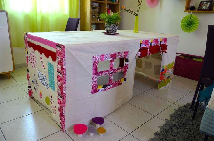 Excellent : la cabane de table. Vite sorti et installé, et vite rangé ! Bravo !