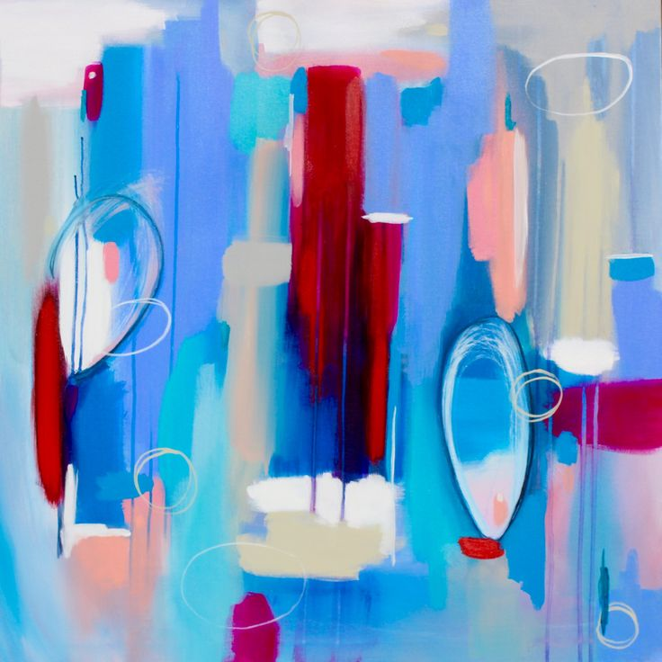 """Rain and beauty hold hands""  Acrylic painting by Don Prewitt.  36""-36""  www.donprewittart.com #acrylic art #abstract art #painting"