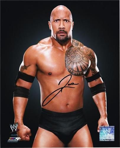 """ THE ROCK "" DWAYNE JOHNSON SIGNED PHOTO 8X10 RP AUTO AUTOGRAPHED WWE WRESTLING 