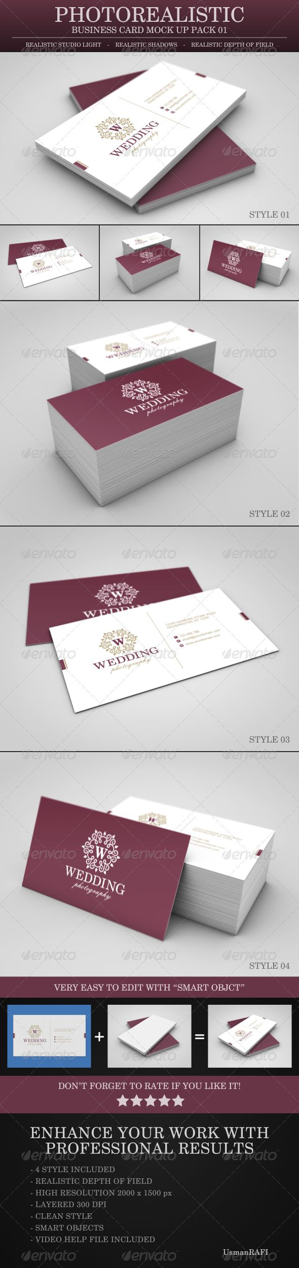 15 best mock ups images on pinterest miniatures mockup and model photo realistic business card mock up pack 01 reheart Image collections