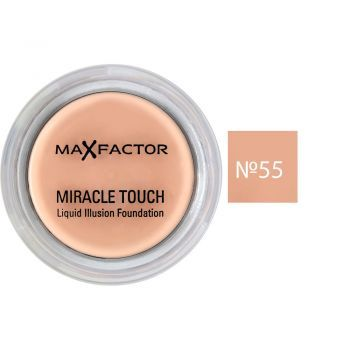 Тональная крем-пудра Макс Фактор Miracle Touch №55 - розово-бежевый, 11.5г (P0000005106) - Miracle Touch - это тональная крем-пудра два в одном, которая сделана по новым технологиям. Miracle Touch is a two-in-one foundation, which is made according to new technologies.