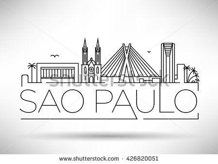 sao paulo skyline chalk