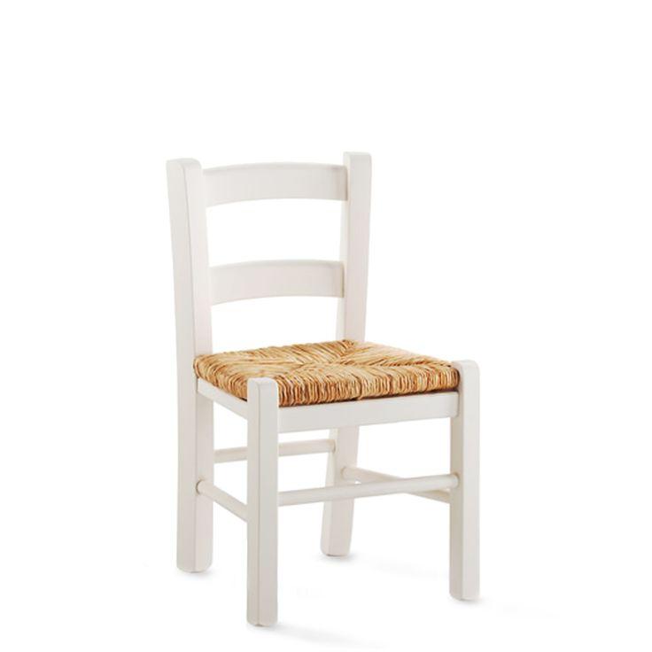 € 18,80 CAMILLA #sconto 50% #sedia per #bambini, struttura in #legno laccato #bianco e sedile in #paglia vera. In #offerta prezzo su #chairsoutlet factory #store #arredamento. 100% #MadeinItaly. Comprala adesso su www.chairsoutlet.com