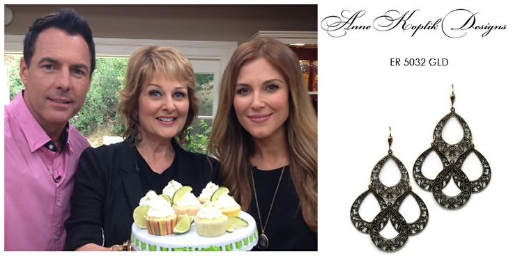 Cristina Ferrare wearing Anne Koplik Designs unadorned earrings ER5032GLD on her show Home & Family on the Hallmark Channel on July 12, 2013. Get yours today at www.annekoplik.com. Available in gold and silver. $35. #earrings #akd #celebrity #tv #homeandfamily #homeandfamilytv