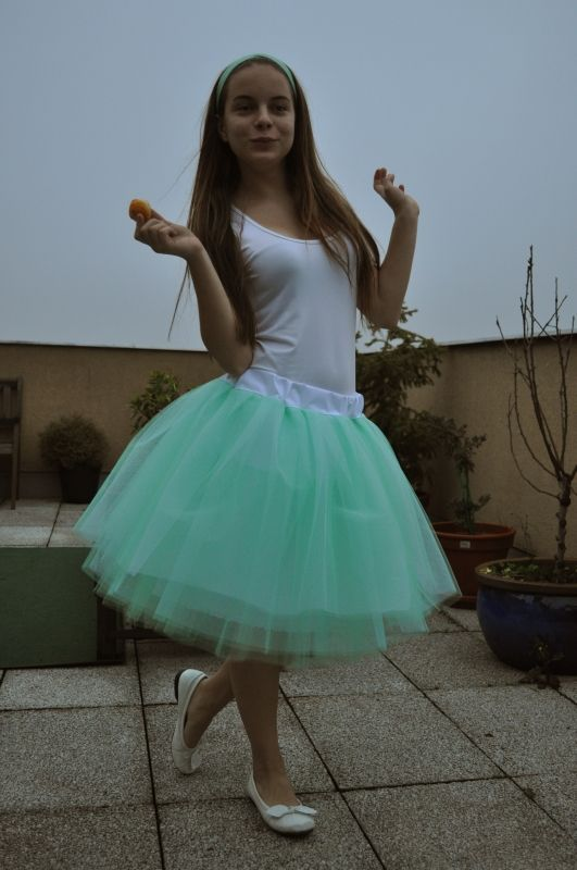 Zelená tylová sukně | Princezna Pampeliška e-shop