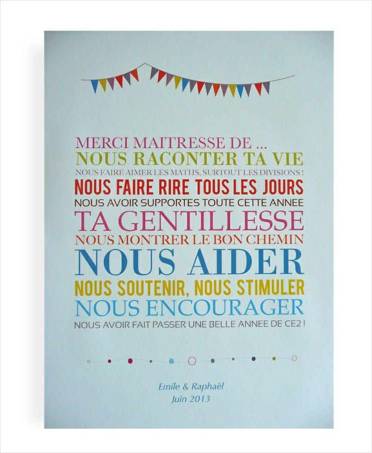 "Image of Affiche ""Merci Maîtresse"""