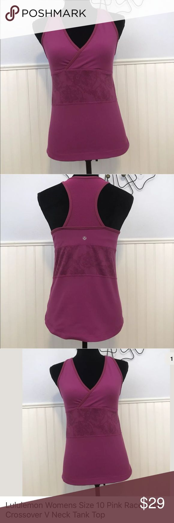 Lululemon pink racerback crossover tank top bra 10 Pre-loved Lululemon Athletica racerback tank top bra. Athletic wear. Size 10 pink Check out my closet, we have a variety of women's, Lululemon, Pink VS Victoria Secret, handbags 👜 purse 👛 Aerosoles, shoes 👠 sandals, Gold, silver, black chocker, fashion jewelry, necklace, dresses, tops, blouse, skirts, bags, leggings, pants, makeup, Beauty & more... Fast shipper. Smoke & Pet-Free.  Don't forget to bundle & save! Offers 30% OFF discount…