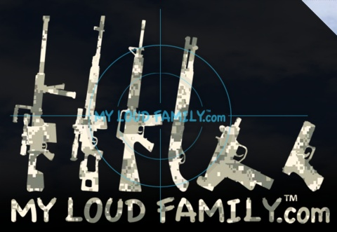DIGITAL CAMO GUN FAMILY SET
