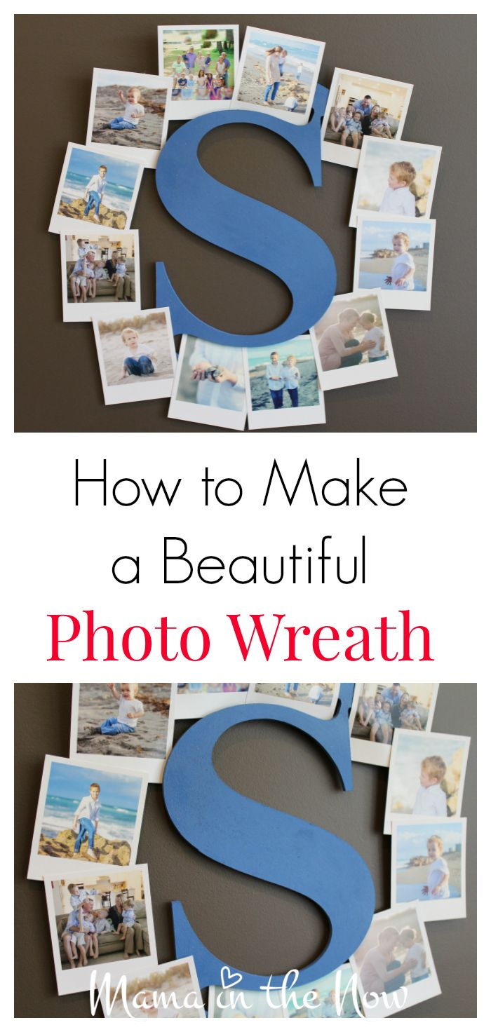 How to make a beautiful photo wreath statement piece. This is such a creative way to display your family photos.