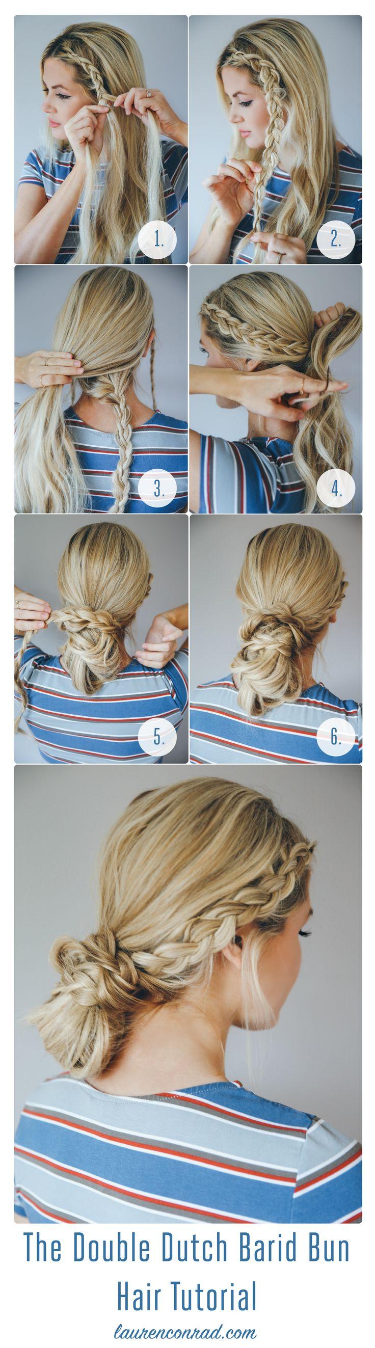 Tutorial: How to Do the Messy Bun Double Dutch Braid | LaurenConrad.com