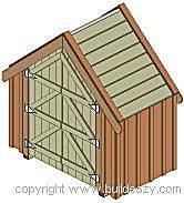 Build a New Storage Shed with One of These 23 Free Plans: Narrow Backyard Shed…
