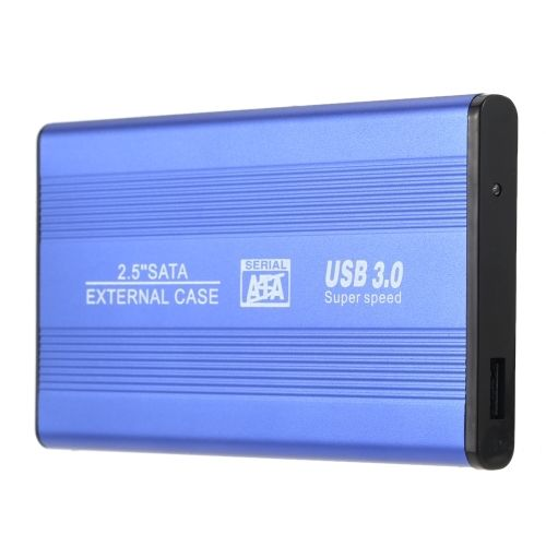 (8.38$)  Know more  - Portable Superspeed USB 3.0 HDD SSD SATA External Aluminum 2.5 Hard Drive Disk Box Enclosure Case up to 1TB