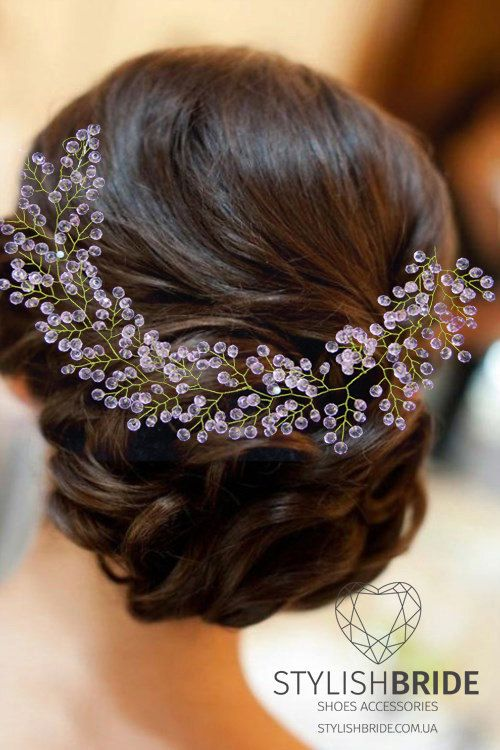 Floral Bridal Hair Vine, Boho Flower Bridal Hairpiece, Floral hair vine sale, Long hair vine with flowers | Stylish Bride Accs