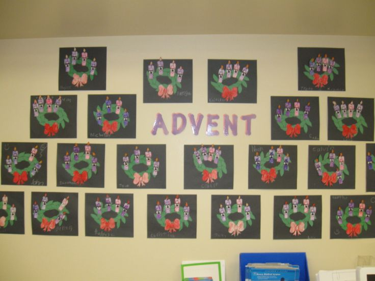 Advent Wreath | Bulletin Boards/Wall & Door Displays | Pinterest