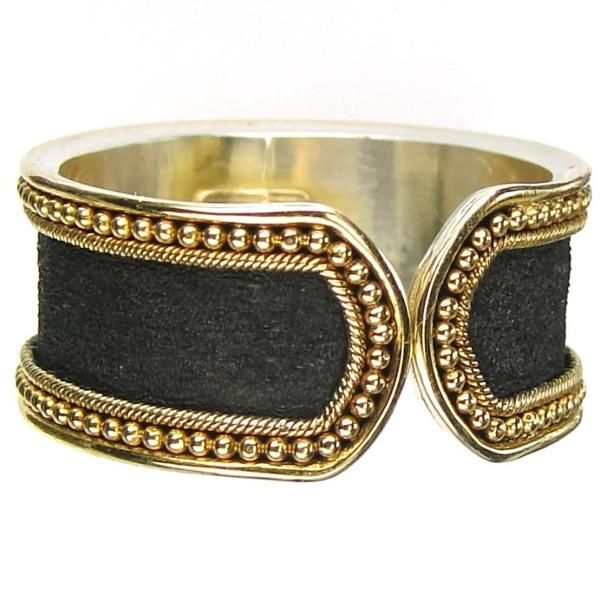 Hammered ring in black gold by Damaskos. For more exclusive hammered rings and bracelets in black gold by Damaskos see Athena's Treasures.