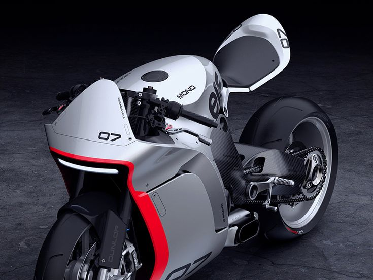 huge moto mono racer is an aggressive yet refined motorcycle concept