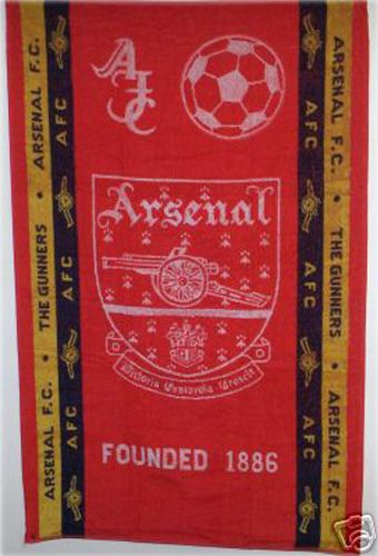 ARSENAL AFC - The Gunners Sports Terry Bath Towel 100% Cotton in Sports Memorabilia, Football Memorabilia, Towels | eBay #HarvardMills #LordOfTheLinens #merchandise #sport #support #Arsenal #ArsenalFootballClub #AFC #football