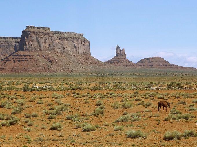 米国・モニュメントバレーにて。Monument Valley, USA.