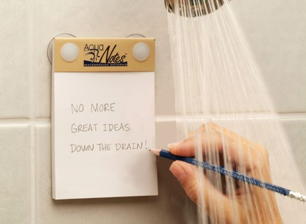 Because all good ideas come to you in the shower!!
