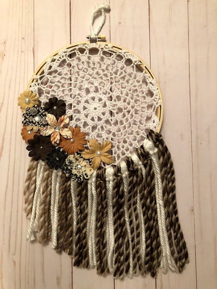 Embroidery Hoop and Doily Dream Catcher Etsy Handmade