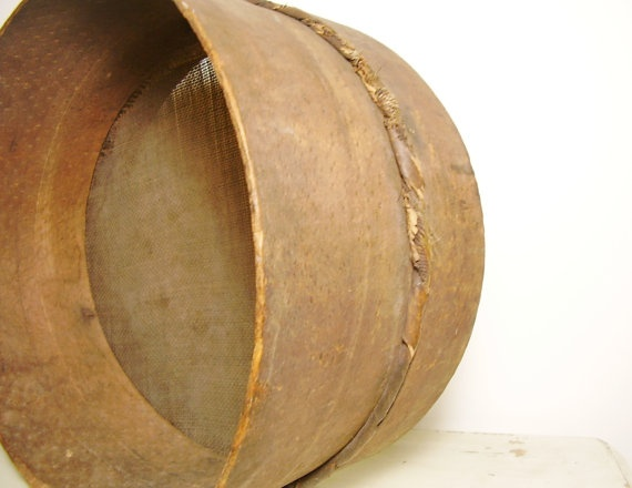 Antique Bentwood Sieve Sifter c1800s Primitive by OceansideCastle, $84.00