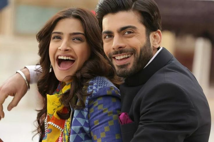 Fawad khan and sonam kapoor What a smile :)