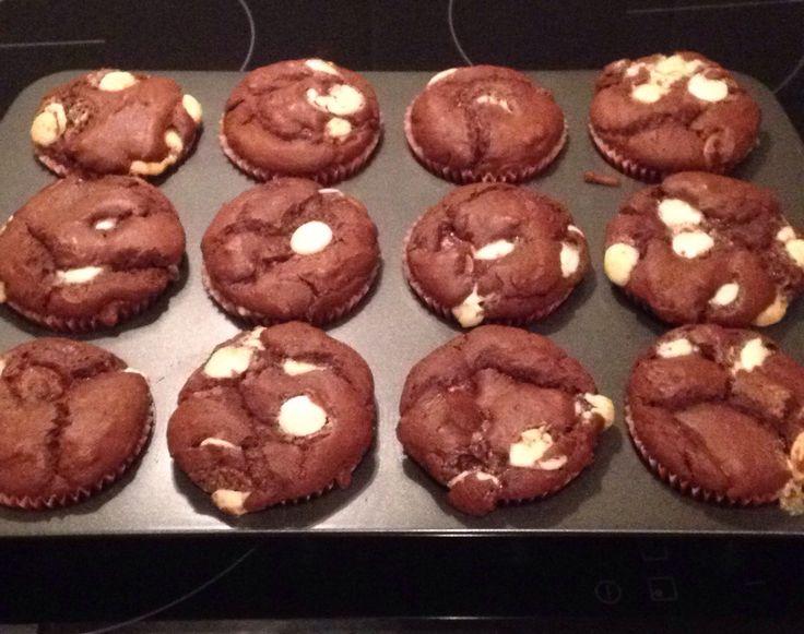 Triple chocolate chunk muffins!