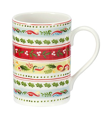 PORTMEIRION CHRISTMAS WISH Stripe Mug
